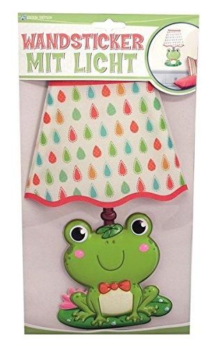 Trötsch Wandsticker mit Licht Frosch, Glitzer-Lampenschirm
