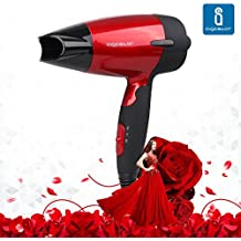 Aigostar Linda 32GQT - Secador de pelo en rojo metalizado. Perfecto para viajar. 1400 watios. Diseño exclusivo de Aigostar.