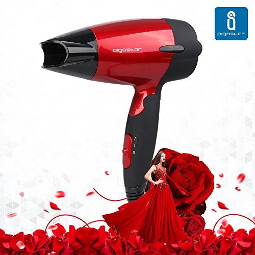 Aigostar-Linda-32GQT-Secador-de-pelo-en-rojo-metalizado-Perfecto-para-viajar-1400-watios-Diseo-exclusivo-de-Aigostar