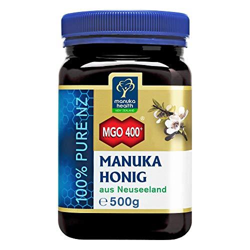 Manuka Health - Manuka Honig MGO 400 + 500g - 100{f622433c5b96c0444b2eaada816eedaa996f70749f56156d453f023044e4895b} Pur aus Neuseeland mit zertifiziertem Methylglyoxal Gehalt