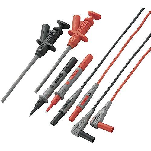 Sicherheits-Messleitungs-Set 1.2 m Schwarz, Rot VOLTCRAFT MS-6