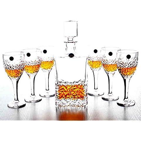 Di cristallo di vino bianco Spiriti whisky bicchiere di vino rosso vino straniero Decanter Wine Glass Set Jiuzun