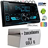VW Golf 6 VI - Kenwood DPX-3000U - 2DIN USB CD MP3 Autoradio - Einbauset