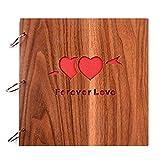 LH-TLMYFotoalben Scrapbook DIY Fotoalbum Bilderalbum Vintage Style Sticker Tagebuch aus Holz Geburtstaggeschenk 9 Zoll (Forever Love)