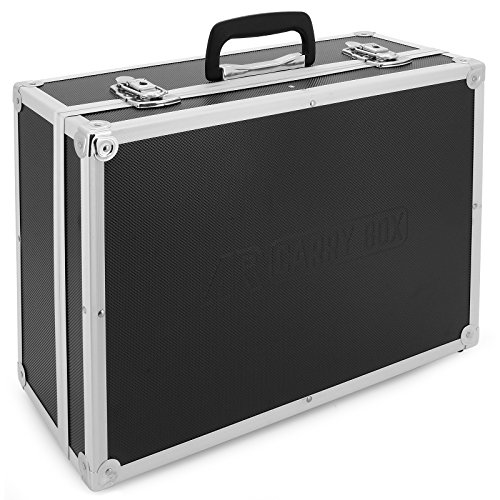 AR Carry Box Alukoffer Werkzeugkoffer Aluminium Koffer leer (LxBxH) 450x320x175mm Farbe Alu Schwarz