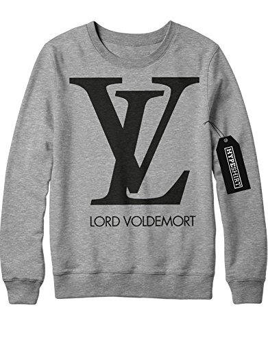 Sweatshirt Lord Voldemort Loui Vuitton Logo Harry Potter C999934 Grau XXL (Harry Potter Quidditch Outfit)
