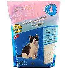 BPS (R) Arena de Sílice para Gatos Arena Blanco Fresco Mascotas Cat Litter 3,8L BPS-3200
