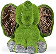 Sharpex Elephant shape Garden Animal Statue / Lawn Yard Art Sculpture Decorations, Indoor / Outdoor Art Lawn Ornaments Garde
