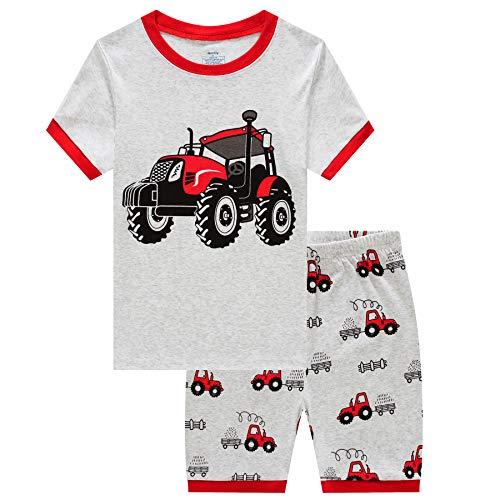 MIXIDON Jungen Schlafanzug Kinder Dinosaurier Pyjamas Sets Kleinkind Pjs Nachtwäsche 2-8 Jahre - Kurze Pyjamas Pjs