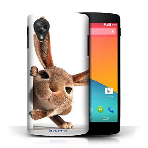 Hülle Case für LG Google Nexus 5/D821 / Neugieriger Hund Entwurf / Lustige Tiere Collection Neugieriges Kaninchen