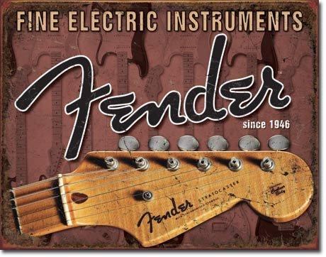 Fender Guitar Headstock Blechzeichen aus GB