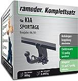 Rameder Komplettsatz, Anhängerkupplung abnehmbar + 13pol Elektrik für KIA SPORTAGE (122118-08751-1)