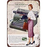 1956 Smith-corona eléctrico Máquinas de escribir vintage look reproducción Metal Tin ...
