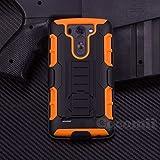 LG G3 S Carcasa, Cocomii® [HEAVY DUTY] LG G3 Mini Robot Case **NUEVO** [ULTRA FUTURO ARMOR] Premium Funda Con Clip Para Cinturón Pata De Cabra Kickstand Bumper Case [DEFENSOR MILITAR] De Todo El Cuerpo Híbrido Doble Capa Resistente Cubierta Protectora Cover Bumper Case [COCOMII GARANTÍA] ::: La Mejor Protección Frente A Caídas Y Las Repercusiones De Su LG G3 S, LG G3 Mini, LG Beat, LG Vigor, D722, D724, D725, D728 ::: ★★★★★ (Black/Orange)