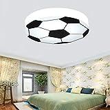 Kinderzimmer Licht kreativ Fußball Deckenleuchte moderne LED-junge Mädchen Augenschutz Deckenleuchte E27 Wohnzimmer Schlafzimmer Kindergarten Dekoration Licht (weiß): 56 cm