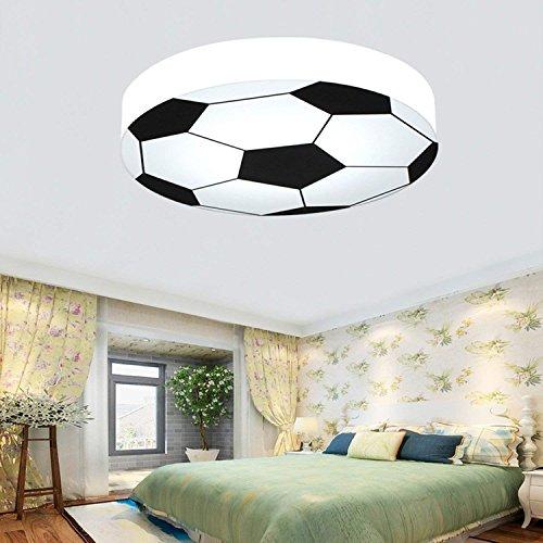 (Kinderzimmer Licht kreativ Fußball Deckenleuchte moderne LED-junge Mädchen Augenschutz Deckenleuchte E27 Wohnzimmer Schlafzimmer Kindergarten Dekoration Licht (weiß): 56 cm)