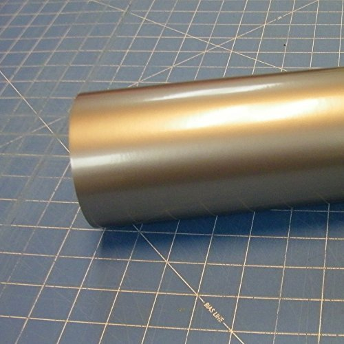 Unbekannt 12 x 10 Ft Roll of Glossy Oracal 651 Metallic Silver Gray Vinyl for Craft Cutters and Vinyl Sign Cutters by Oracal 651 (Sign Vinyl Cutter)