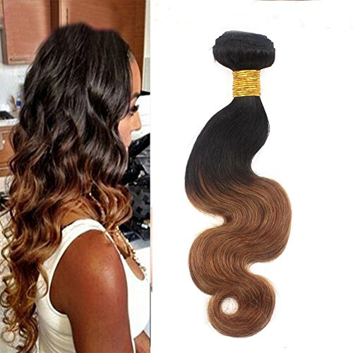 Romantic Angels 16''(40cm) Tissage Brésilien Ondules Body Wave Hair Weave Extension Cheveux Naturel 1 Bundle Lot 100g Couleur#1b/30