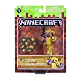 Minecraft 16488 - Figura de acción de 7,62 cm – Steve in Gold Armour Pack
