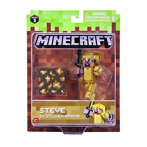 Minecraft 16488 3-Inch Action Figure - Steve in Gold Armour Pack