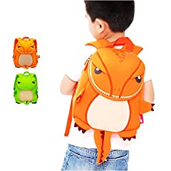 Ofun 3d Dinosaur Backpack Toddler, Dinosaur Rucksack For Toddler Boys Girls, Kids Nursery Bags For Boys, Dinosaur For Boys (School Size, Orange)