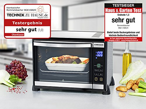 Rommelsbacher Electronic Baking and Grilling Oven, Stainless Steel