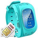 Hangang GPS Tracker Niños Safe Smartwatch Sos Llamadas Localizador de localización...