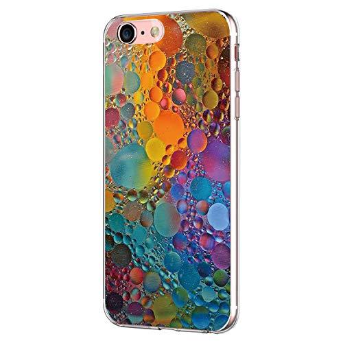 Pacyer Case kompatibel mit iPhone 7 Hülle iPhone 8 Hülle Silikon Ultra dünn Transparent Handyhülle Durchsichtige Rückschale TPU Schutzhülle für Apple iPhone 7/8 Cover Marmor (9)