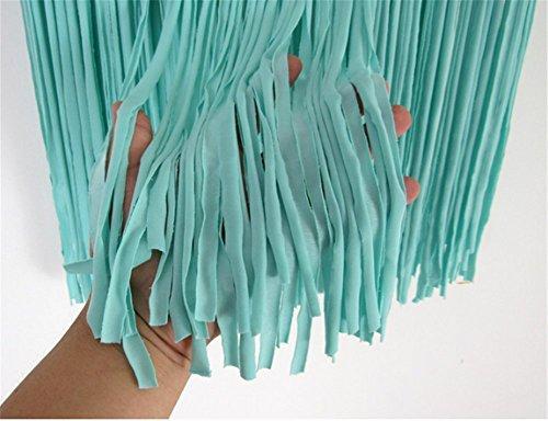 YARBAR Donne Ragazze Uncinetto Frangia Corta Gonna Costume Da Bagno Bikini Coprire Estate Beachwear Verde