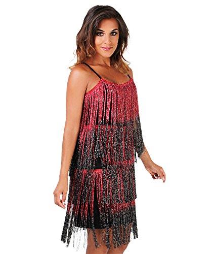 KRISP Damen Swing (Red Kleid Flapper Mode)