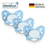 Dentistar® Schnuller 3er Set Nuckel Silikon in Größe 3