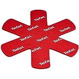 Tefal K2203004 Set de 4 Protecteurs de Poêle Rouge