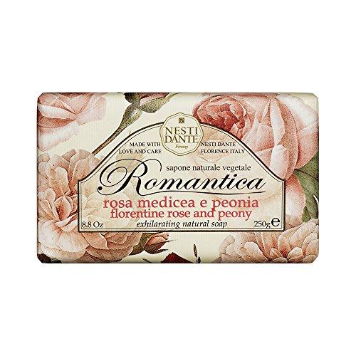 Nesti Dante Seife ROMANTICA Rose & Peony, 3er Pack (3 x 250 g) (Rosen Romantica)