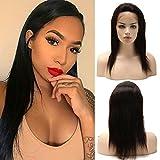 25cm-55cm Parrucche Lace Front Wig Human Hair Wigs Naturale Nera Parrucca Donna Capelli Veri 100% Virgin Lisci Brasiliani con Baby Hair,12'/30cm