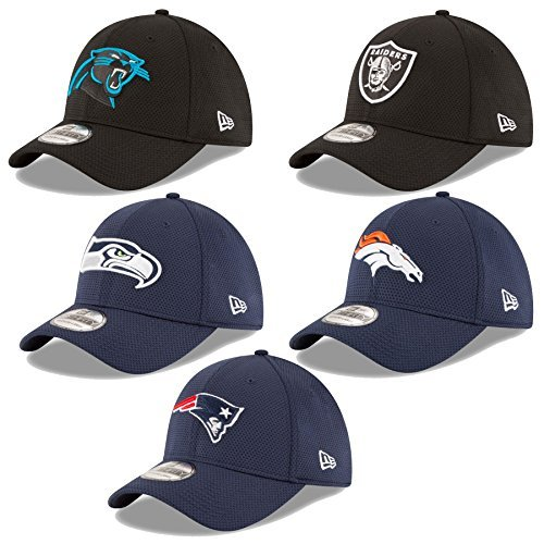 NEW ERA cap 39Thirty NFL Cap Sideline Tech Seahawks Raiders Patriots Broncos Panthers uvm, Adulti (unisex), Carolina Panthers #2534, XS / S