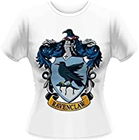 Plastic Head Women's Harry Potter Ravenclaw GTS Banded Collar Short Sleeve T-Shirt, White, Size 12 (Manufacturer Size:Large)