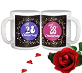 Best Brother In Law Mugs - TiedRibbons 28th Wedding Anniversary Gift for Parents Father Review