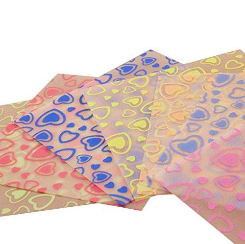 Papiere Handwerk (Da.Wa 90 Blätter Leuchtendes Origami Papierkran Papier leuchtet im Dunkeln (Herz))