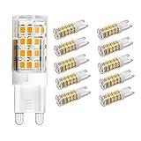 Vlio 10er Pack 5W G9 LED Lampe, 2835 SMD 51 LED Birnen, Ersatz für 40W Halogen Lampen, Nicht Dimmbar, Warmweiß, 450LM, 360° Abstrahlwinkel, LED Leuchtmittel, 220-240V AC