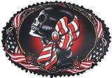 Liquor Brand American Gipsy Tattoo Old School Pillow Cushion Rockabilly, Black with Motif, 50 cm x 35 cm