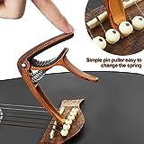Kapodaster für Akustikgitarren mit Plektren von SMAtech - 2