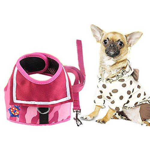 JIAEN ejiaen Safety Dog Vest Mesh Harness mit 127cm Travel Gurt für Mini Klein Mudium groß und Extra Große Hunde (Travel Harness Dog)