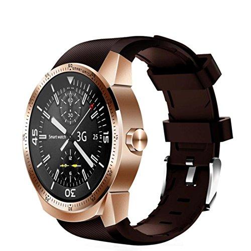 Smartwatch Herzfrequenzmonitore Smart Armband 1,3 Zoll 3G Android 4.1 MTK6572A 1,2 GHz Dual Core 4 GB ROM IP54 Wasserdicht Bluetooth 3.0 GPS K98H Ersatzbänder GPS Einheiten Pedometer , Golden