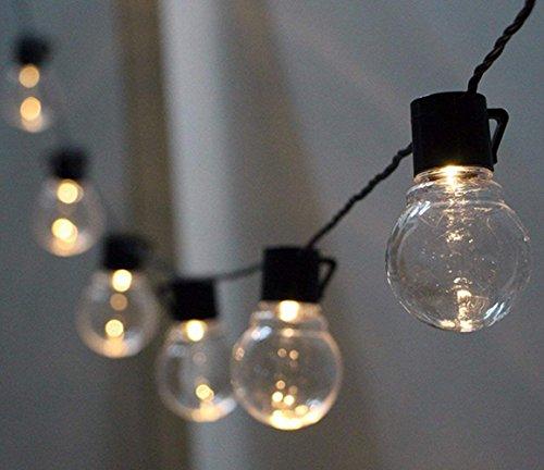Solar LED Lichterkette Außen Warmweiß mit 10pcs Globe Birnen, KEEDA 3.5m Außenbeleuchtung, Solar Weihnachts Beleuchtung, Batteriebetrieben Garten Deko Licht,Dekorative Lichter (Warmweiß)