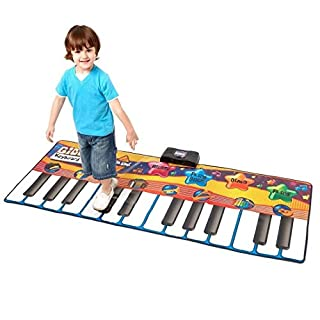 Alisable Electronic Musical Large Playmat Non-slip Fitness Pad Dance Mat Musical Play Mat Toy(Piano Style)