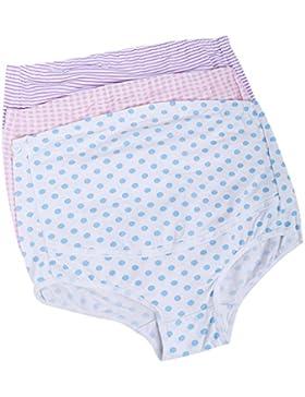 Fenteer Kit di 3pz Donna Maternità Gravidanza Biancheria Intimo Pancia Sopra Mutande Slip Mutandine Underwear