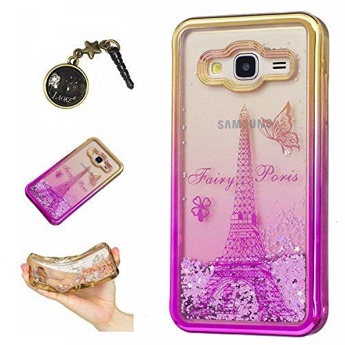 Preisvergleich Produktbild Laoke für Samsung Galaxy J3 (2016) J310 Hülle Schutzhülle Handy TPU Silikon Hülle Case Cover Durchsichtig Gel Tasche Bumper ( + Stöpsel Staubschutz) (4)