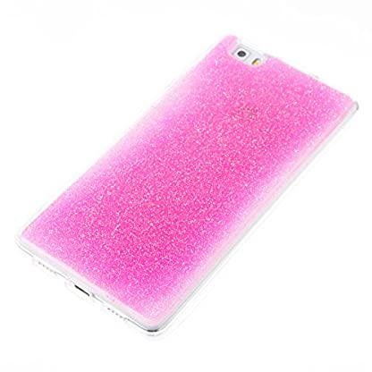 COZY HUT Huawei P8 Lite Gel Case, Sparkle Luxury Bling Glitter Soft Acrylic TPU Bumper Phone Case Protective Shell Cases Covers for Huawei P8 Lite - Pink 3