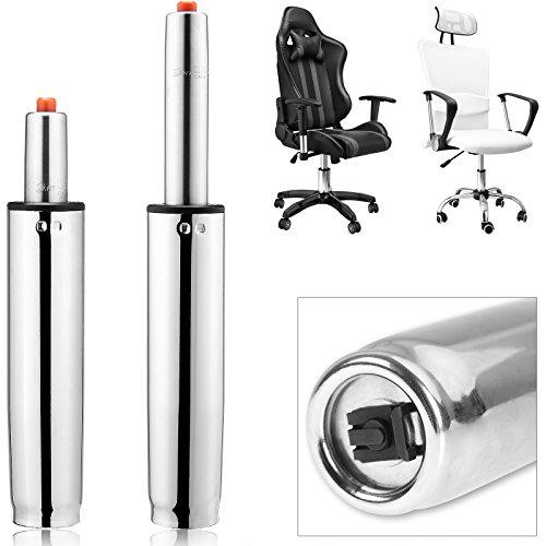 Deuba Gasdruckfeder Bürostuhl bis 355mm 400Nm I 180kg Belastbar I stufenlos I Güteklasse III I Gasdruckdämpfer Hocker