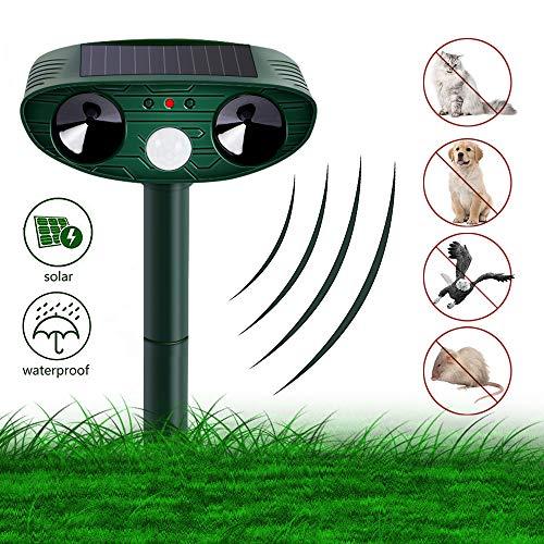 Vivibel Katzenschreck Ultraschall Solar, Wasser Tiervertreiber Ultraschall solar katzenschreck vogelabwehr hundeschreck, cat Repellent für Katzen, Hunde, Schädlinge, Marderabwehr -